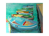 Blue Boats, 2003 Stampa giclée di William Ireland