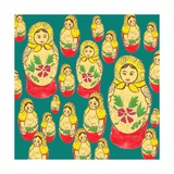 Russian Dolls Giclee Print by Anna Platts