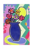 Blue Vase, 2003 Giclee Print by Bodel Rikys