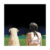 Girl and Yellow Lab, 2008 Giclee Print by Marjorie Weiss