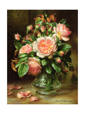 English Elegance Roses in a Glass Giclee Print by Albert Williams