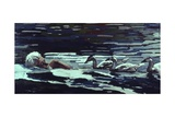The River:Conrad Lorenz with Goslings, 1982 Giclee Print by Peter Wilson