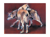 Wolf Composition, 2001 Giclee Print by Mark Adlington