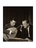 Julian Bream (B.1933) (Left) with Peter Pears (1910-86) Photographic Print by Lotte Meitner-Graf