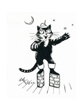 Puss in (Brick-Wall Platform) Boots Giclee Print by George Adamson