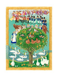 The Twelve Days of Christmas, 1997 Giclee Print by Linda Benton