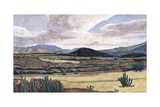 Landscape on the Way to Teotitlan, 1999 Giclee Print by Pedro Diego Alvarado