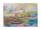 Village by the River, 1989 Giclee Print by Brenda Brin Booker