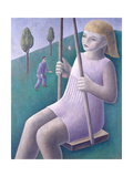 Girl on Swing, 1996 Giclee Print by Ruth Addinall