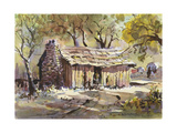 Mark Twain's Cabin Giclee Print by LaVere Hutchings