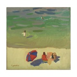 On the Beach, C.1985 Giclee Print by Alexander Goudie