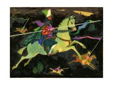 Night Horseman with Lances, 1960s Giclee Print by George Adamson
