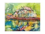 Waterside Tavern Giclee Print by Brenda Brin Booker