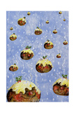 Christmas Puddings Giclee Print by David Cooke