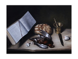 Grouse, Pestle and Mortar and Knife, 2008 Giclee Print by James Gillick