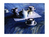 Tea Time with Gordy, 1998 Giclee Print by Ellen Golla