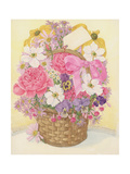 Basket of Flowers, 1995 Giclee Print by Linda Benton