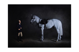 Portrait of Mrs Jane Strawson and Her Grey Hunter Micky McCourthy, 2007 Giclee Print by James Gillick