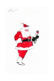 Santa Robin-Falconry Giclee Print by George Adamson