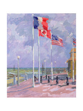 Flags at Courseulles, Normandy Giclee Print by Sarah Butterfield