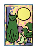 Sun Cat, 2000 Giclee Print by Bodel Rikys