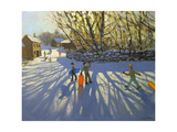 Red Sledge, Monyash, Derbyshire Giclee Print by Andrew Macara