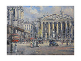 The Bank Crossing, the Royal Exchange and the Bank of England C.1930 Giclee Print by John Sutton