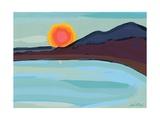 Apricot Sun Giclee Print by Sarah Gillard