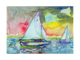 Sailboat Evening Giclee Print by Brenda Brin Booker
