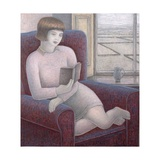 Girl Reading in Armchair, 2009 Giclee Print by Ruth Addinall