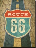 Route 66 Stretched Canvas Print by Renee Pulve