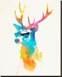 Sunny Stag Impressão em tela esticada por Robert Farkas