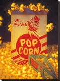 3D Popcorn Stretched Canvas Print by TR Colletta