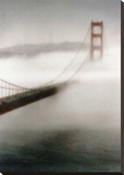 The Fog Comes In Stretched Canvas Print by Laura Culver