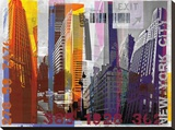 New York Sky Urban Stretched Canvas Print by Sven Pfrommer