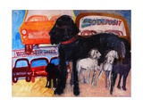 Dog at the Used Car Lot, Rex Giclee Print by Brenda Brin Booker