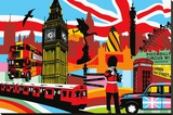 London Stretched Canvas Print by  Lobo