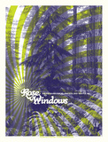 Rose Windows at Sub Pop's Silver Jubilee Serigraph by Mike Klay