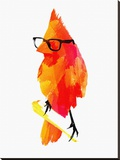 Punk Bird Stretched Canvas Print by Robert Farkas
