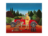 Red Rolls Royce, 1992 Giclee Print by Anthony Southcombe