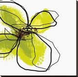 Green Petals Lærredstryk på blindramme af Jan Weiss