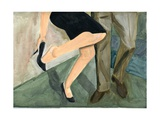 27.09.09 - They Danced So Hard She Had to Take Her Shoes Off, 2009 Giclee Print by Cathy Lomax