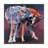 Two Wolves, 2001 Giclee Print by Mark Adlington