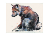 Polish Wolf Pup, 2001 Giclee Print by Mark Adlington