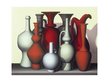 Vessels in Time and Space, Vermillion, Naples Giclee Print by Brian Irving