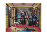 The Vet's Waiting Room Giclee Print by P.J. Crook