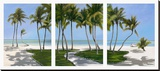Islamarada Triptych Stretched Canvas Print by John Ketley