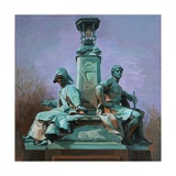 Kelvingrove Sculptures, Autumn Light, C.2000 Giclee Print by Alexander Goudie
