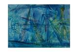 Blue Schooner Giclee Print by Brenda Brin Booker