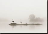 Melton Lake Stretched Canvas Print by Nicholas Bell